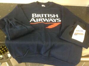 Original British Airways Blue Sweat Shirt only Small size