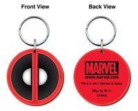Marvel Comics Deadpool Logo Colored Soft PVC Key Ring Keychain, NEW UNUSED