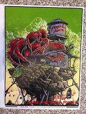 Pearl Jam poster by Johnny Crap AKA Jonathan Bergeron for the Oklahoma City 2013