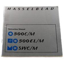 Hasselblad 500C/M 500EL/M SWC/M 500CM Instruction Manual (English)