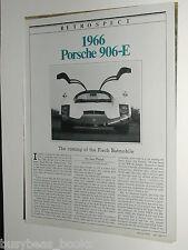 1984 magazine article about the 1966 PORSCHE 906-E race car, history, test drive