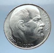 1970 CZECHOSLOVAKIA Silver VLADIMIR LENIN Antique Silver 50 Korun Coin i72415