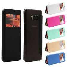 Urcover View Case | Clear Back Protective Cover | View Window Smartphone Cover
