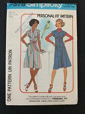Simplicity 7578 Vintage 1976  Dress Tunic Personal Fit Size 10 12 Uncut