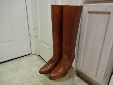 """VINTAGE 70'S 17"""" KNEE TALL FRYE BOOTS GOOD COND WON 7.5 AA MOTORCYCLE USA MADE"""