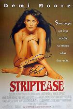 Burt Reynolds & Armand Assante Autographed Striptease 12x18 Movie Post ASI Proof