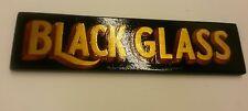BLACK GLASS beer bottle gilded sign