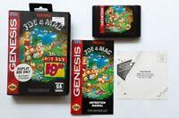 Joe & Mac Sega Genesis COMPLETE with Manual & Insert AUTHENTIC TESTED VERY CLEAN