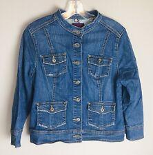 GLORIA VANDERBILT Blue Jean Jacket Denim Button Up Women's Size Large Petite