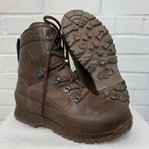 HAIX BROWN LEATHER HIGH LIABILITY COMBAT BOOTS - Size: 10 Medium , British Army