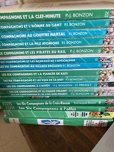 Lot 16 les 6 compagnons Paul Jacques Bonzon bibliothèque verte