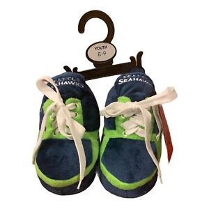 Forever Collectibles NFL Seattle Seahawks Sneaker Slippers Youth 8-9 NWT