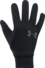 Under Armour Liner 2.0 Running Gloves Black Ultra Soft Knit Warm Winter Glove S