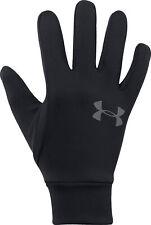 Under Armour Liner 2.0 Running Gloves Black Ultra Soft Knit Warm Winter Glove S