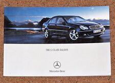 2005 MERCEDES BENZ C-CLASS SALOON Sales Brochure - C55 AMG 350 280 230 200K CDI