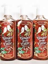 Bath Body Works GINGERBREAD LATTE Deep Cleansing Hand Soap NEW x 3