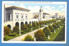 CALIFORNIA - SAN DIEGO, NORTH SIDE OF EL PRADO, BALBOA PARK PC  117