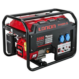Loncin LC3500-AS 3KW Portable Petrol Generator Site Construction Hire Power