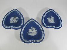 Vintage set of 3 English wedgwood ashtrays # 403