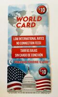 PREPAID CALLING CARD For INTERNATIONAL and USA CALLING NO EXPIRATION $10 AT&T