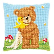 Popcorn & Souffle Chunky Cross Stitch Cushion Front kit 40x40cm By Vervaco