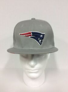 9Fifty New England Patriots Flat Bill Solid Gray Snapback Hat Cap