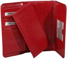 1680147 Ladies classic red womens wallet quality Italian leather include removab