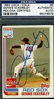 Dennis Eckersley Signed 1982 Topps Coca Cola Psa/dna Certified Autograph