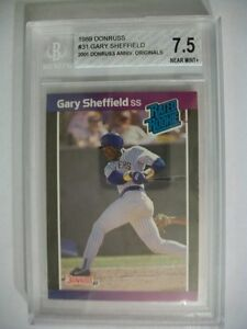 GARY SHEFFIELD 1989 Donruss Rated Rookie #31 BGS NM+ 7.5 RC Brewers, Yankees