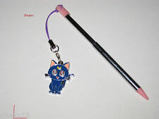 Pink Nintendo 3DS Retractable Stylus With Sailormoon - Luna Cat Charm Attached
