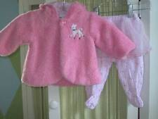 NEW POTATOES baby girl pink poodle hooded sweater footed tutu pant set 6 months