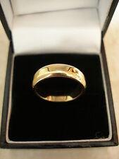 9 CARAT YELLOW GOLD 5MM HEAVY FLAT SHAPE WEDDING RING BRAND NEW IN BOX