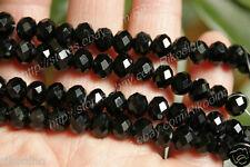Wholesale 5 - 16mm Faceted Black Swarovski Crystal Gem Loose Beads