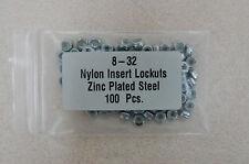 8-32.... Zinc plated nylon inset lock nuts ....100 pcs.