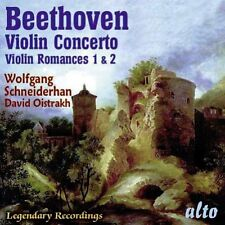 CD BEETHOVEN VIOLIN CONCERTO TWO ROMANCES WOLFGANG SCHNEIDERHAN DAVID OISTRAKH