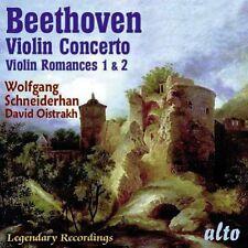 CD BEETHOVEN VIOLIN CONCERTO TWO ROMANCES WOLFGANG SCHNEIDERHAN DAVID OISTRAKH