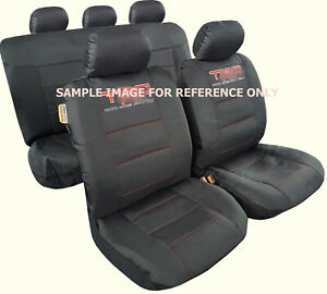 For Toyota Tacoma Seat Covers 2000-2021 Black Waterproof Canvas Full Set