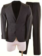 HUGO BOSS Mens 2 Piece Suit US 38 Medium W36 L33 Grey Striped Wool  HA09