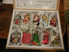"INGE-GLAS  ""'Twas The Night Before Christmas""  Ornaments 10 Pcs Set  RETIRED"