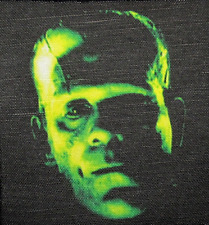 BORIS KARLOFF Frankenstein Monster - Printed Patch - Sew On - Jacket, Backpack