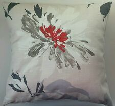 """Cushion Cover in Next Orange Rust Delicate Floral Print 16"""" Matches Curtains"""