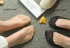 5 Paar Damen Socken Füßlinge mit Spitze Ballerinas Baumwolle