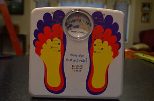 HEALTH-O-METER-Kids Scales-with shoe size chart-Sunbeam 2003 ~Model HAB020