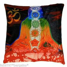 CHAKRA DREAM MEDITATION CUSHION COVER NEW AGE PAGAN WICCA PILLOW FAIR TRADE