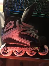 Mission Rmx Vibe - Size 8 Inline Skates Roller Hockey Stiffness Rated 53