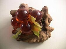 Vintage Lucite Grapes Fake Fruit Centerpiece Table Decoration Mid Century Decor