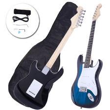 Rose wood Fingerboard Electric Guitar Blue +Gigbag +Cord+Strap+Accessories
