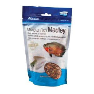 Aqueon Monster Fish Medley Freeze Dried River Shrimp for Large Fish 3.5oz