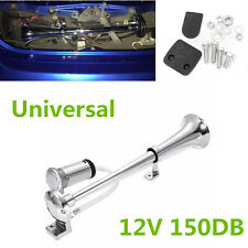 Universal Car Super Loud 150db Single Trumpet Air Horn Kit w DC 12V Compressor
