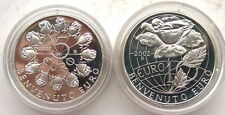 San Marino 2002 Welcome Euro Set of 2 Silver Coins,Proof
